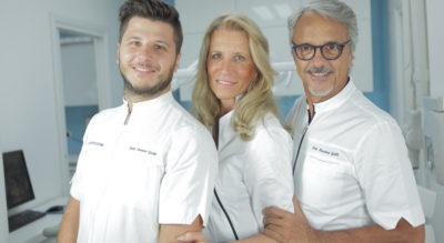 Tre dottori dello Studio dentistico Abaco Monza